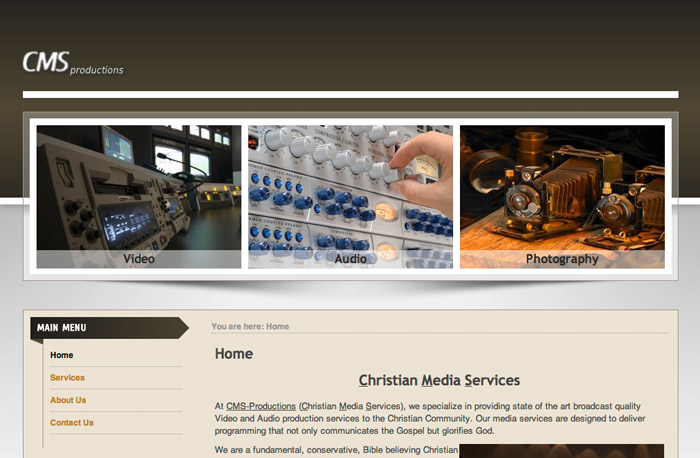 CMS-Productions Website