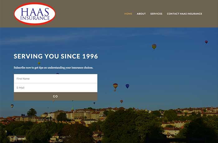Haas Insurance Service Website